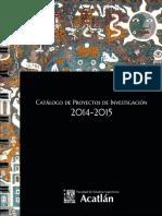 Catálogo de Proyectos de Invetigación