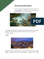 Planificación Para Visitar Ecuador