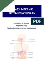 Kuliah 1. Fungsi Mekanik Sistem Pencernaan
