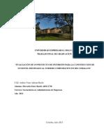 Evaluación de un proyecto de inversión para la construcción de un hotel destinado al turismo en Río Ceballos