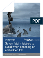 Seven Fatal Mistakes to Avoid When Choosing an Embedded OS