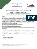 failure analysis two diesel engine crankshaft