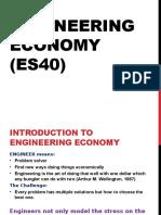 Engineering Economy - Lecture 1