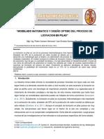 VI Congreso de Latinometalurgia - Modelado y Diseño Optimo