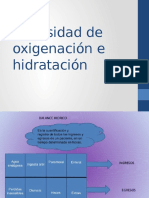 Necesidad de Oxigenación e Hidratación