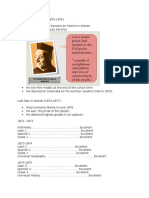 Report Rizal
