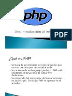 1 Presentación Php