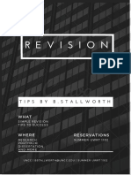 Revision Tips Infograpic