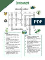 Environment Crossword Puzzle