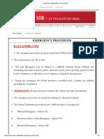 Kalyan Sir_ Emergency Provisions