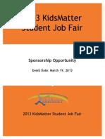 Job Fair Sponsor Proposal 2013
