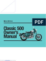 Royal Enfield Classic 500 Owners Manual