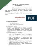 Descripciones de Los Puestos Ejecutivos y Profesionales