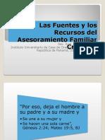 Las Fuentes y los Recursos del Asesoramiento Familiar.ppt