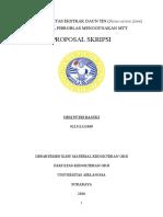 cover + dafis PROPOSAL UJI SITOTOKSISITAS EKSTRAK DAUN TIN MENGGUNAKAN MTT