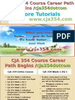 CJA 354 Course Career Path Begins Cja354dotcom