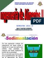 Clase Sedimentacion