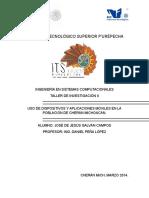 PROYECTO. Uso de Dispositivos y Aplicaciones en La Poblacion de Cheran Michoacan.