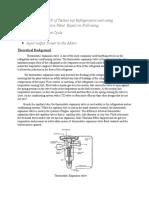 Determination of COP of Techno vat Refrigeration unit using Thermostatic Expansion Valve