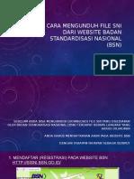 Cara mengunduh + pesan file SNI dari website Badan Standardisasi.pptx