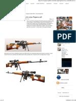 Dragunov Sniper Rifle - Life-size Papercraft