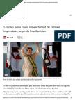 5 Razões Pelas Quais Impeachment de Dilma é Improvável, Segundo Brasilianistas