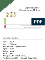 Laporan Kasus Hematemessis Melena