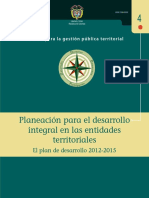 Guía 4 Planeación Desarrollo Integral en Entidades Territorial