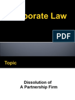 dissolution of a firm