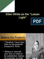 Meaning of Ellen White as Lesser Light