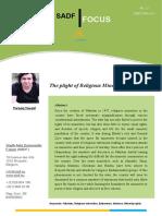 SADF FOCUS N.12 the Plight of Religious Minorities in Pakistan