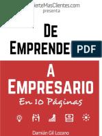 De Emprendedor a Empresario en 10 Páginas