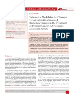 Volumetric Modulated Arc Therapy versus Intensity Modulated Radiation Therapy in the Treatment of Prostate Cancer