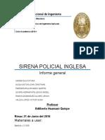 Sirena Policial Inglesa