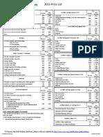 AWS Pricelist