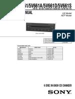 Sony CDX-5V661/5V661A/5V661D/5V661S Service Manual