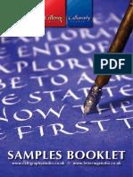 Sample Booklet