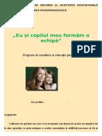 3. Program de Consiliere Și Educație Parentală