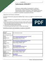 Erasmus - Practical Placements 2016-2017