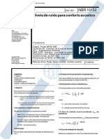 NBR 10152 - Niveis de Ruido de Conforto Acustico