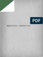 Catalogo Breve de La Biblioteca Americana Tomo Preliminar