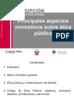 Principales aspectos normativos sobre ética pública