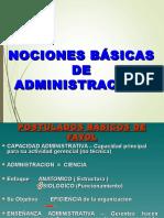 Nociones Basicas de Administracion