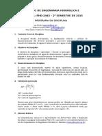 Programa Da Disciplina - PHD 24443 - 2015