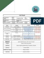 ident  call sheet