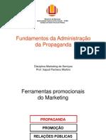 Administração Da Propaganda - Marketing de Servicos 2016 1