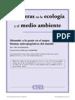 Situando a La Gente en El Mapa - Biomas Antropogénicos Del Mundo