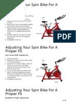 spin bike adjustment