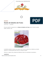 Receta de Gelatina de Frutas - RECETAS PASO a PASO