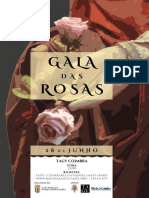 Cartaz Gala Das Rosas 2016